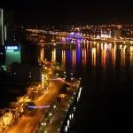 riviere de Han dans la nuit