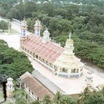 temple en haut vue